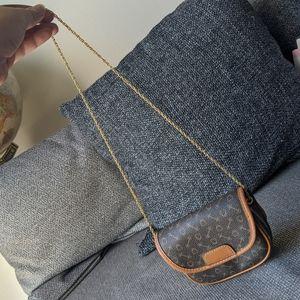 Vintage Why Leather SLG Bag Pouchette Vachetta